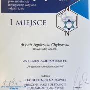 Agnieszka zdobyła pierwsze miejsce za poster!!