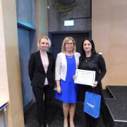 Odebranie Nagrody im. prof. G. Kupryszewskiego UG przez Agę 2017